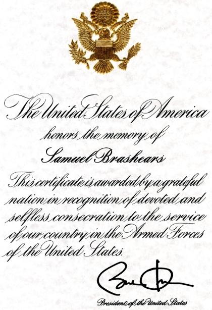 PresidentialMemorialCertificate