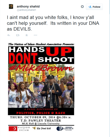 Shahid - Crop-white folks DNA as DEVILS