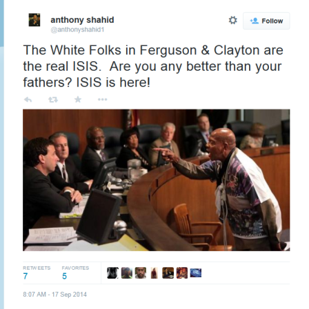 Shahid - Crop-White Folks in Ferguson are the real ISIS