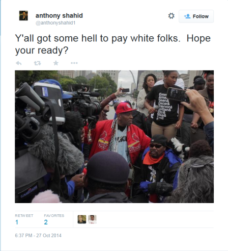 Shahid - Crop-Ya'll got some hell to pay white folks, hope you're ready
