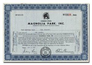Magnolia Park Stock Certificate