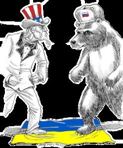 Uncle Sam v Bear in Ukraine