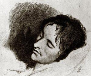 John Keats, drawn a month before he died, by Joseph Severn