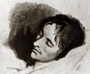 John Keats, drawn a month before he died, by Joseph Severn