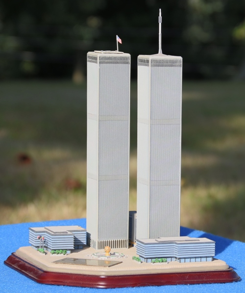 Brandi's porcelain sculpture of the WTC