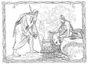 Odin_and the Völven_by_Lorenz Frølich