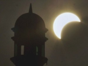 Rawalpindi solar eclipse AP photo