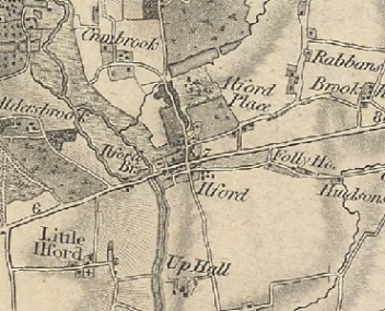 Ilford Essex old map