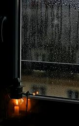 raimy window with lantern