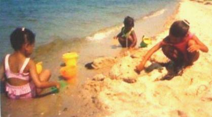 black girls on the beach