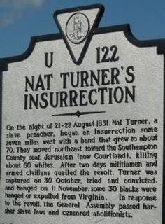Nat Turner marker
