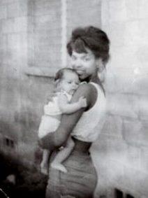 natasha trethewey as a baby held by mother Gwen