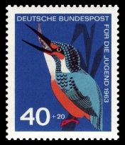 German Postage Stamp woth bird