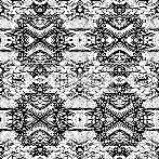 Mexican tile black n white