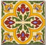 mexican tile green n yellow