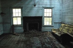 abandoned farmhouse interior