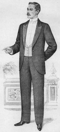 Gentlemans Dinner Attire 1898