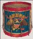 Civil War Drum painted Wayne White 1940