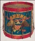 Civil War Drum painted Wayne White 1940