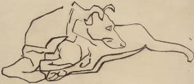 Henri Gaudier-Brzeska A Dog circa 1913