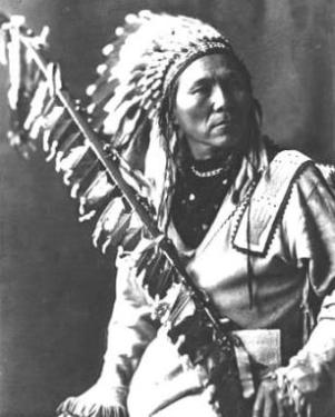 Morris Antelope, a chief of the Coeur d'Alene people
