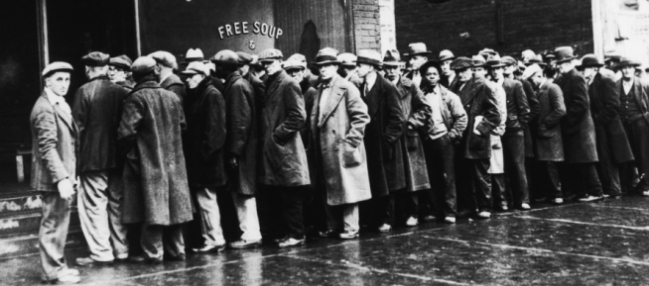 Great Depression bread line