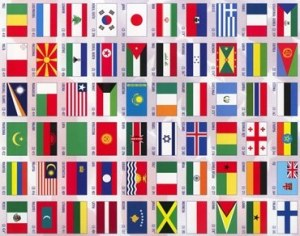 international Flags hortizontal