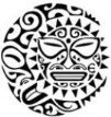 Maori art sun-moon - small