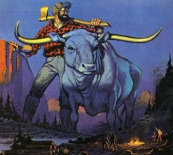 Paul Bunyan and Blue