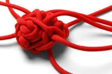 Shoe laces knot