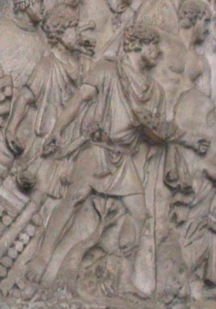 Slingers on Trajan's Column ~ Wikipedia