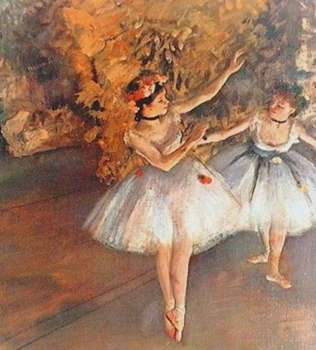 Ballet painting by Edward Degas