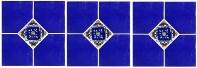 Mexican Tile blue diamonds