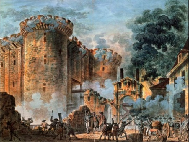 storming of Bastille 1789 - Houel