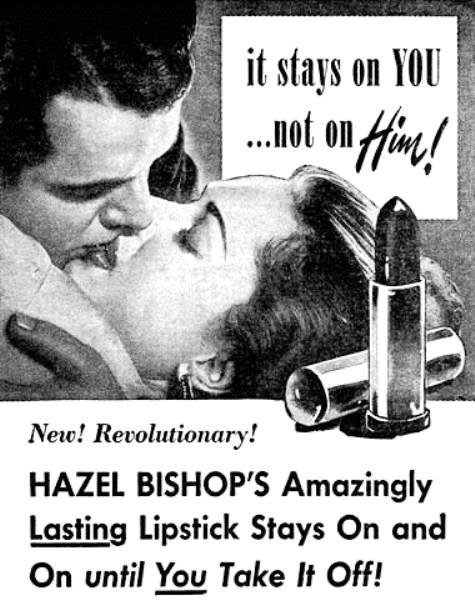 1950-HaZel Bishop lipstick ad