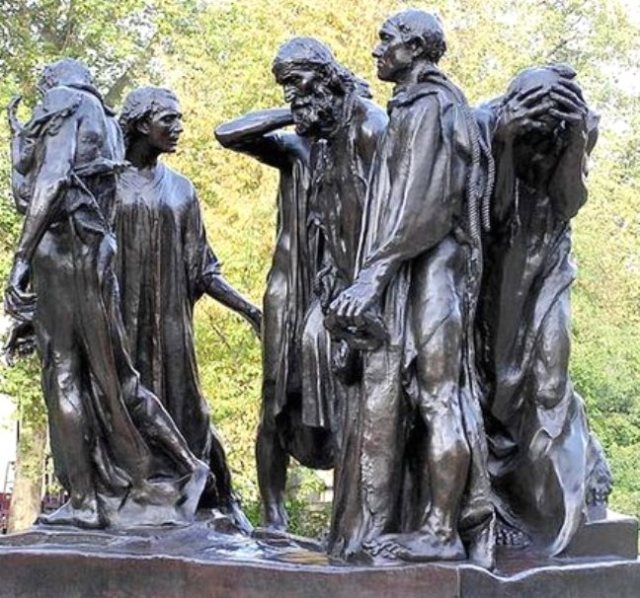 Burghers of Calais by Auguste Rodin 1884