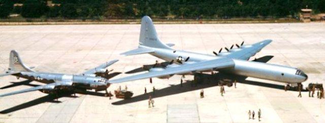 Convair B-36 compared to B-29
