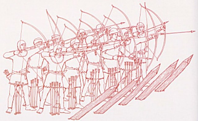 Crecy English archers with longbows