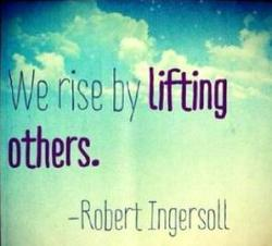 Ingersoll quote lifting others