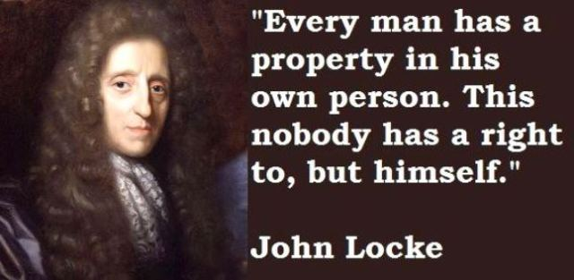 John Locke - right to own person