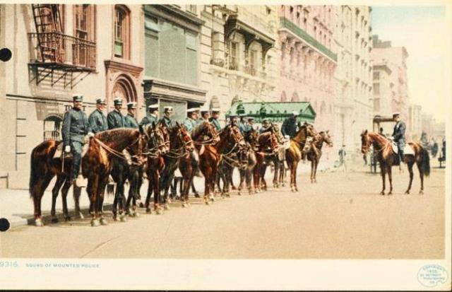 1905 mounted police postcard