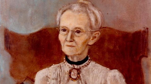 Grandma Moses self-portrait