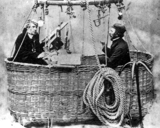 James-Glaisher and Henry Coxwell in their balloon