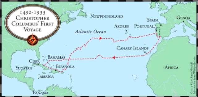 Map-1492-Columbus1stVoyage