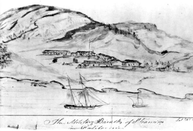 presidio-1843-drawing-swedish-traveler-g-m-waseurtz-af-sandels
