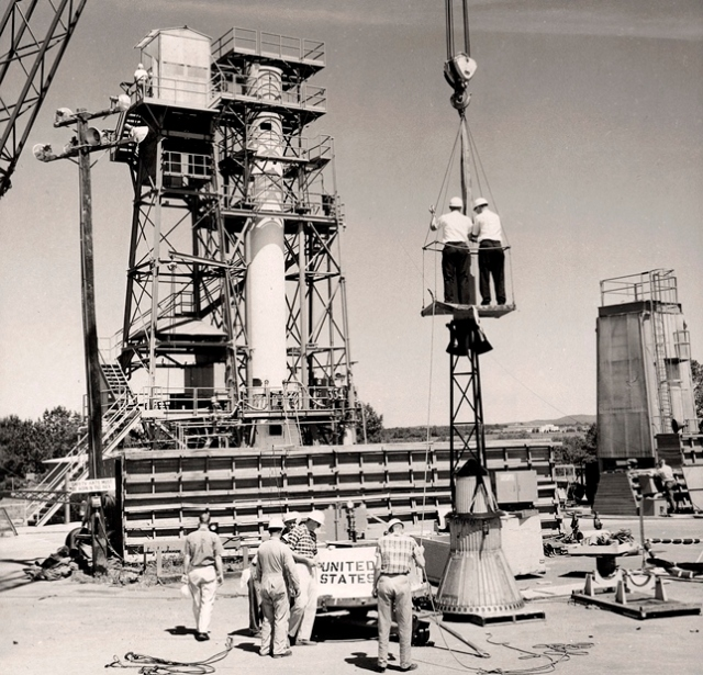 Redstone Test Stand at Marshall Space Flight Center
