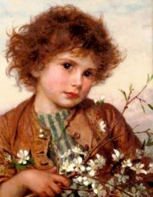 red-haried-child-sophie-anderson-1823-1903