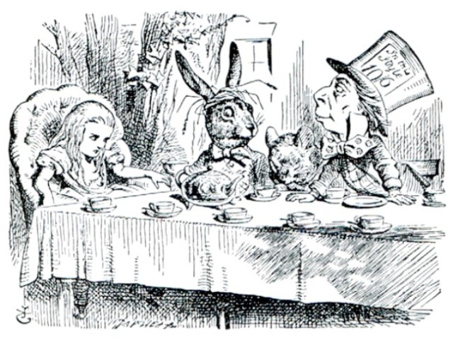 tenniel-mad-hatter-tea-party