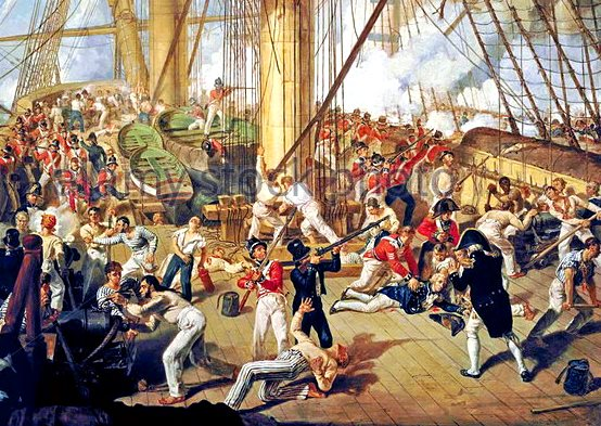 the-fall-of-nelson-battle-of-trafalgar-21-october-1805-painting