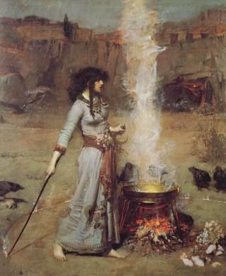 the-magic-circle-1886-john-william-waterhouse
